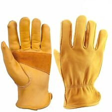 Leather Gloves Warm Retro Finger Motorcycle Style Men Waterproof Cold Resistant