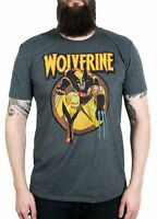 NEW X-Men Wolverine Vintage Charcoal Shirt Large Brand New.