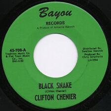 Clifton Chenier NEW/old stock zydeco Bayou 708 45 Black Snake b/w Wrap It Up