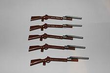 Playmobil soldados 5 fusiles con bayonetas marrón claro ACW estados del norte estados sureños