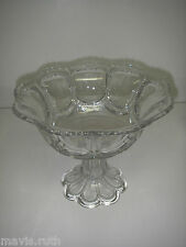 "EAPG Pattern U S Glass GALLOWAY Clear Large Compote  8"" 1901"