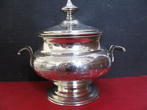 ANTIQUE RUSSIAN SILVER SUGAR BOWL WITH HANDLE MOSCOW 1878 decorative item