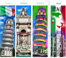 3set-ITALY Leaning TOWER Pisa BOOKMARK-Flag Culture Italian ART Travel Book CARD