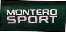 "Genuine Mitsubishi OEM Emblem ""MONTERO SPORT"" Side Logo 00 - 04 Brand New Gray"