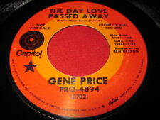 GENE PRICE 45 - THE DAY LOVE PASSED AWAY - COUNTRY