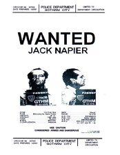 Batman, Jack Napier, Joker, Wanted Poster, Michael Keaton, Jack Nicholson