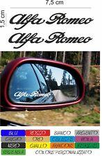 kit 2 adesivi alfa romeo specchio specchietto stickers 156 147 159 mito COD166