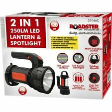 2 IN 1 LED TORCH & SPOTLIGHT 250LM WORK SECURITY LIGHT LANTERN ROTATING HANDLE