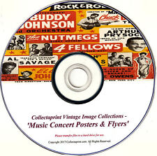 ☆ PRINT VINTAGE MUSIC / CONCERT POSTERS, FLYERS ☆ 200x Enhanced Images DVD   ☆
