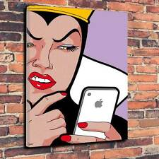 "POP Art BIANCANEVE APPLE STAMPA SU TELA A1.30""x20"" ~ Deep 30mm Telaio"