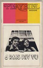 """Jerry Orbach & Jane Alexander Playbill  """"6 Rms Riv Vu"""" 1973"""