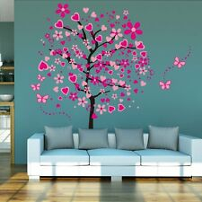 Huge Size Cartoon Heart Tree Butterfly Wall Decor Treatments Stickers Removable