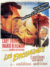 Affiche 120x160cm LES ENCHAÎNÉS /NOTORIOUS (1946) Hitchcock - Cary Grant RESSORT