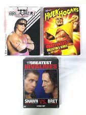 WWE Wrestling DVDS - Shawn Vs Bret, Hulk Hogan, Bret The Hit-Man Hart