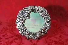 Vintage CHARPENTE Metal Christmas Wreath Fruit Round Picture Frame Table Top 6""