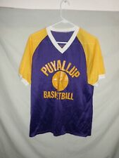 Vtg 80's Puyallup High basketball mesh t-shirt V-neck Seattle Washington