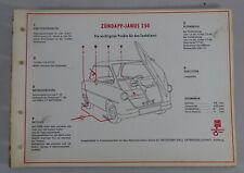 Shell Schmierplan für Zündapp Janus 250 Stand 1958