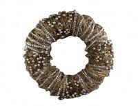 Gisela Graham Gold Twig and Diamante Christmas Wreath - Elegant Door Wreath