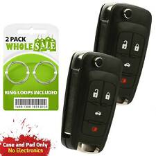 2 Replacement For 2010 2011 2012 2013 Chevrolet Cruze Key Fob Shell Case Fits 2012 Chevrolet Cruze Lt