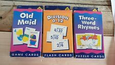 Vintage 1990s School Zone Flash Puzzle Game cards English