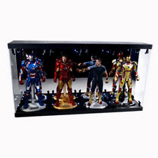"Acrylic Display Case Light Box for FOUR 12"" 1/6 Figure IRON MAN Mark 33 39 41 42"