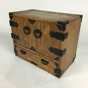 Japanese Wooden Medicine Chest Vtg Accessory box 7 Drawers Kusuri Tansu T253