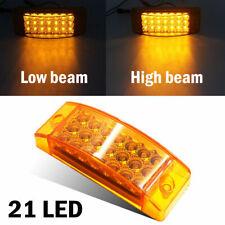 1pc  21 LED Amber Side Marker Clearance Light Rectangle 12V Truck Trailer Camper