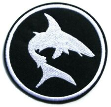 Ocean Shark Patch Embroidered Iron Sew On Environment Nature Fishing Fish