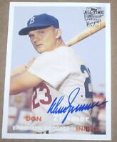 ~2004 Topps All-Time Fan Favorites Autographs Don Zimmer AUTOGRAPH AUTO SP CARD~