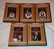 Martin Nash 5 Dvd Card Magic Gambling Fulves Ed Marlo False Shuffle Deal Faro
