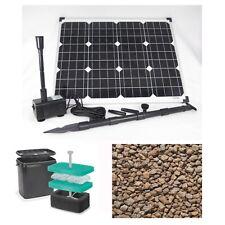 50W Solar Teich Pumpe Gartenteich Pumpenset Filter Tauch Bachlauf Filtermaterial