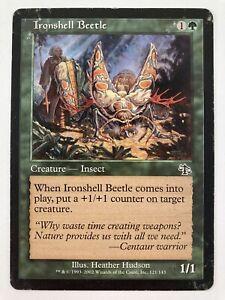 ⭐️ Magic: The Gathering 2002 Judgement set Ironshell Beetle card 🎏
