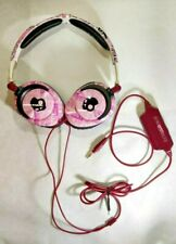 Skull Candy Pink/Black Wired Volume Control Headphones - PeaceLoveNoise