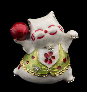 -dose Secret Katze Japanische aus Metall - Maneki-Neko Jacke Grüner - Selten -