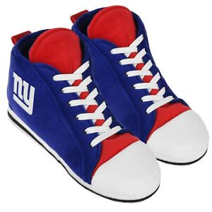 New York Giants High Top Sneaker SLIPPERS New - FREE U.S.A. SHIPPING
