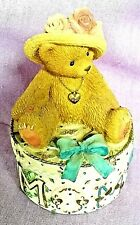 "Cherished Teddies ""Mom"" Trinket Box ~ Enesco 2001 ~ Priscilla Hillman ~ 306614A"