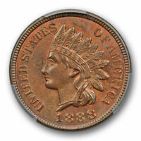 1888 1C Indian Head Cent PCGS MS 64 BN Uncirculated Brown Attractive