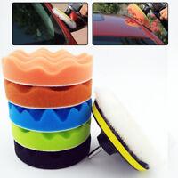 """7pcs Car Polishing Waxing Buffing Wool Sponge Pads Polisher Buffer Kit  5"""" 125mm"""