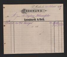 MINDEN, Rechnung 1876, Leonhardi & Noll