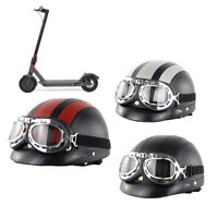 Retro Vintage Helmet With Protective Goggles For Xiaomi M365 Electric Scooter