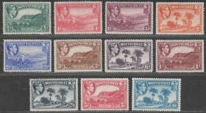 Montserrat 1938-48 King George VI Set to 10sh Mint SG101-111 cat £80