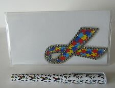 Autism Ribbon Checkbook Cover with Free Pen