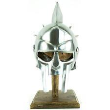 Gladiator Maximus Roman Spiked Helmet 18 Gauge Steel w/ Leather Liner H-4010/Bq3