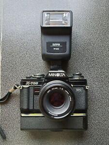 Minolta X-700 35mm Spiegelreflexkamera mit objektive 50mm 75-200mm 80 -200mm