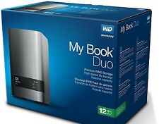 Western Digital WD My Book Duo 12TB USB3.0 RAID NAS HDD Hard Drive WDBLWE0120JCH