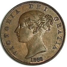 More details for 1858/7 half penny collectable grade ref:e92