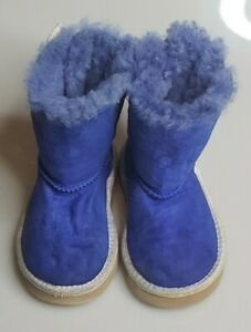 UGG Toddler Bailey Bow Weave Boots Model 1019214t Azul. Size 7 Preowned