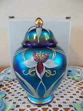 """FENTON CONNOISSEUR COLLECTION """"ORCHID"""" FAVRENE GINGER JAR & BOX LIMITED EDITION"""