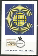 Rsa 1 Postcard Royal visit in South Africa Commonwealth 20.03.1995