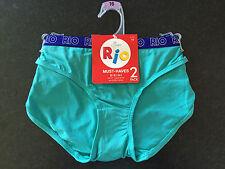 BNWT Ladies Sz 16 Pack Of 2 Rio Aqua/Pink Soft Microfibre Bikini Style Briefs